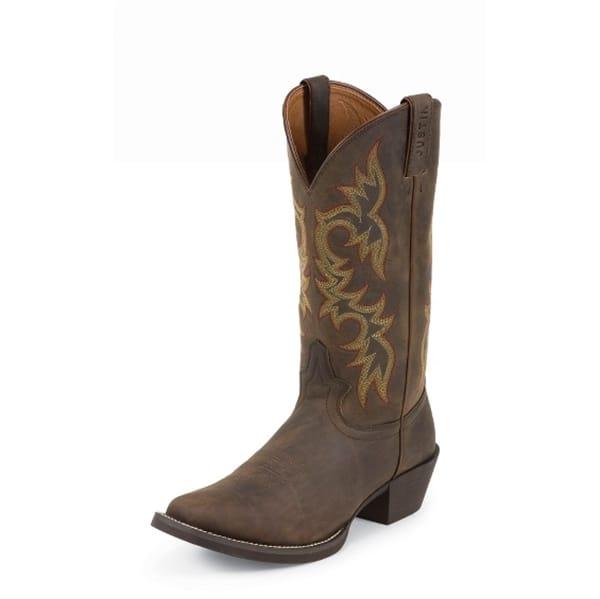 Justin Western Boots Men S Sorrel Apache Boots 2552